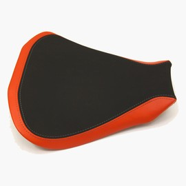 Seat rider no-slide leather/neoprene red