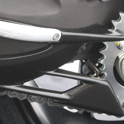 "F4 - Lower chain guard ""std"" carbonfibre"