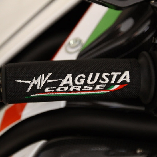 BRUTALE RR 1090 - MY 2012 - Grip covers MV Agusta Corse black (cp.)