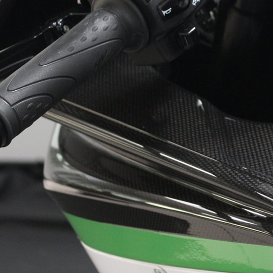 F4 R - Air box duct cover carbon fiber (left)