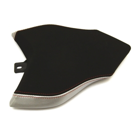 Seat passenger no-slide leather / neoprene silver