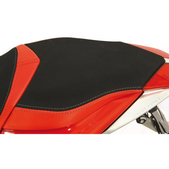 BRUTALE 1090 RR  - Seat passenger no-slide leather / neoprene red