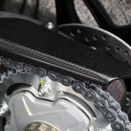 Upper chain guard carbon fiber